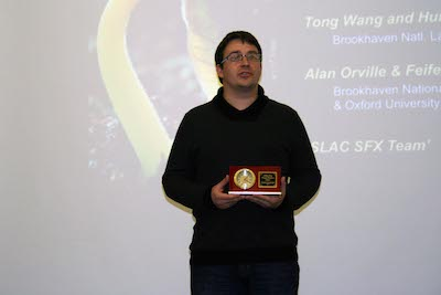 Clement with his award