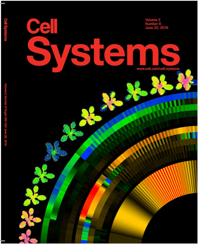 Image of the journal cover, including plant heat maps, indicating photosynthetic activity.