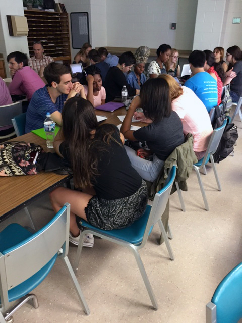 An image of the undergraduate student participants in the classroom.