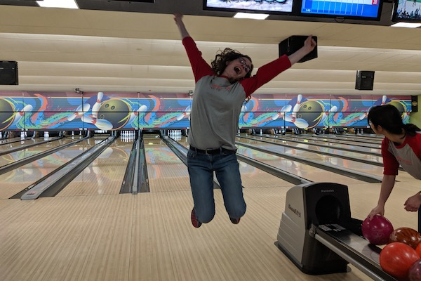 Lauren Hansen getting a strike