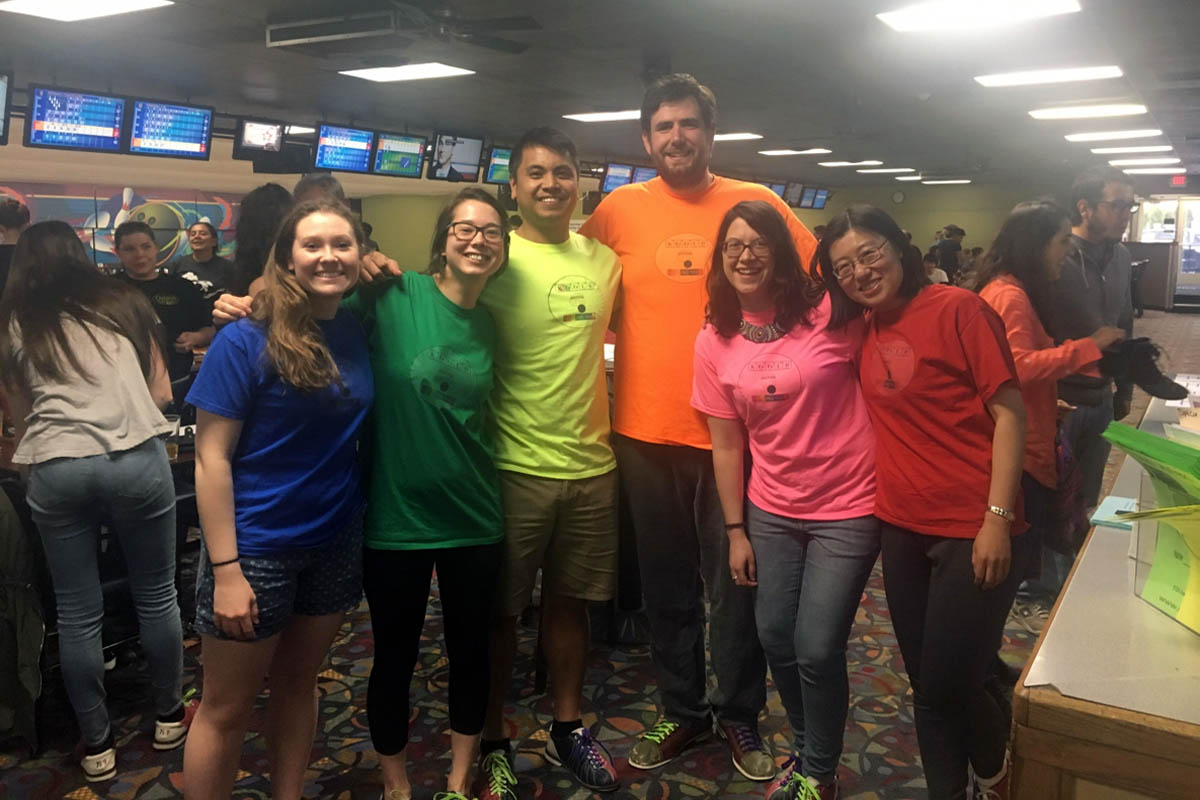 The Kerfeld lab created colored t-shirts to represent at the tournament!