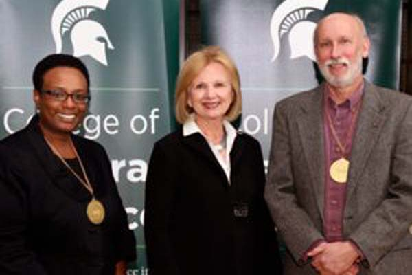 Montgomery, Thomashow invested as MSU Foundation Professors